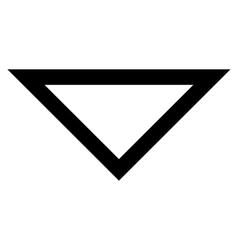 Arrowhead Down Thin Line Icon vector