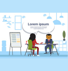 asian business man and woman meeting business vector image