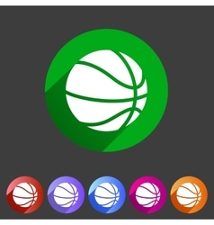 Basketball icon flat web sign symbol logo label vector image