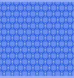 blue pattern with set of various geometric figures vector image