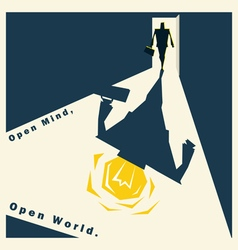Business Idea series Open Mind Open World concept vector image