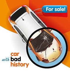 Car With Bad History vector image
