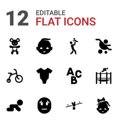 Child icons vector