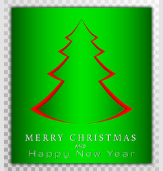 chreestmas tree from paper cut style xmas day vector image