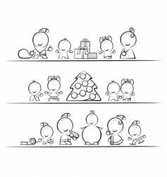 christmas cartoon vector image