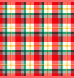 christmas checkered pattern vector image