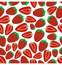 colorful strawberries fruits and half fruits vector image