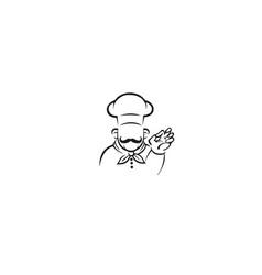 creative chef person abstract logo vector image