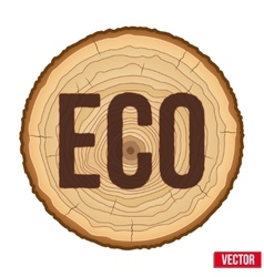 Cross section of tree trunk with scorched vector image