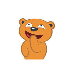 Cute bear thinking vector