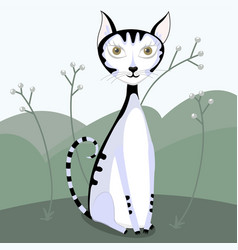 cute cat design vector image