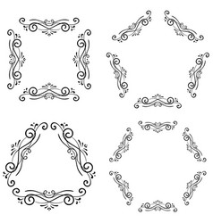 Decorative ornaments black elements vector