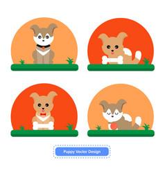 dog icon puppy design vector image