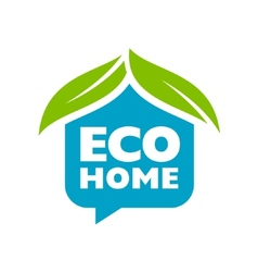 Eco home sign vector image