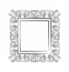 Elegant Baroque royal frame vector image