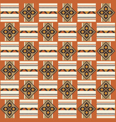 ethnic seamless pattern cloth kente tribal print vector image
