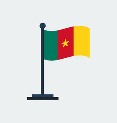 flag of cameroonflag stand vector image