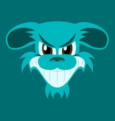 Flat icon on theme evil animal angry dog vector