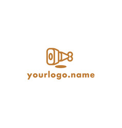 Food youtube channel logo vector