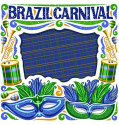 frame for brazil carnival vector image