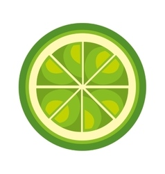Fruit healthy food isolated icon vector
