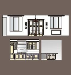 Furniture Kitchen Scan vector image