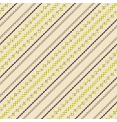Geometric seamless pattern in ethnic style vector image
