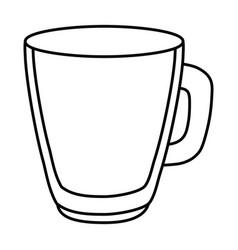 glass cup cartoon vector image