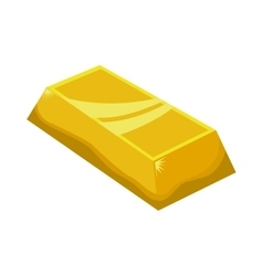 Gold bar icon Treasure design graphic vector