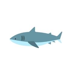 Great White Shark Primitive Style Childish Sticker vector