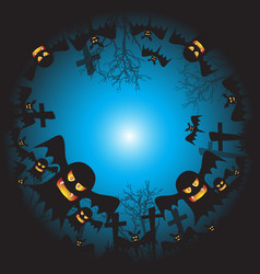 halloween background ghost face vector image