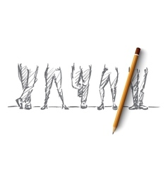 Hand drawn different legs positions vector
