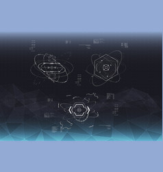Head-up display elements for the spaceship vector