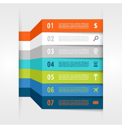 Infographic design with paper creative lines vector image