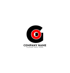 Initial letter go logo design template vector