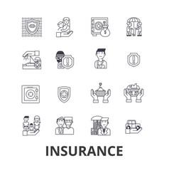 insurance health insurance insurance agent life vector image