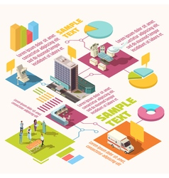 Isometric Hospital Infographics vector