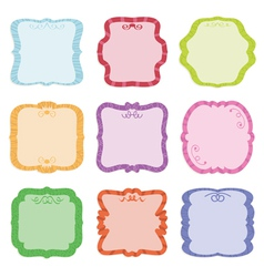 label decorations vector image