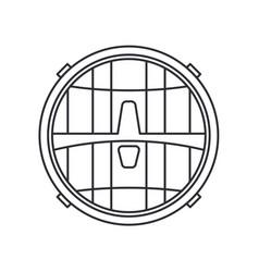 Line icon auto moto parts accessories vector