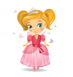Little princess fairies vector