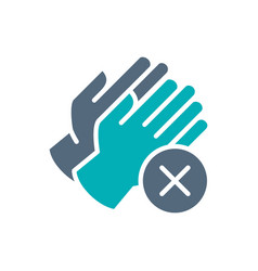 medical gloves with cross checkmark colored icon vector image