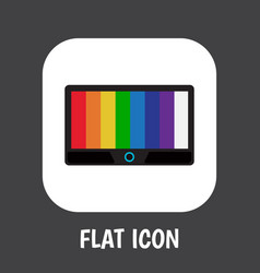 Of tech symbol on tv flat icon vector