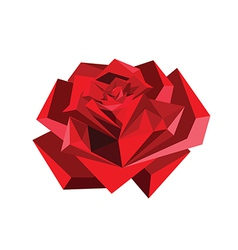 origami red rose vector image