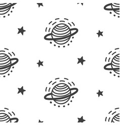 outer space seamless pattern vector image