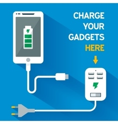 Phone Charging Icon vector