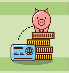 piggy bank money vector image