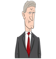 politician cartoon character vector image