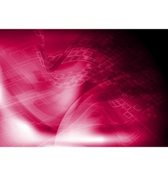 Red tech design vector