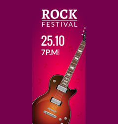 rock festival flyer event design template vector image