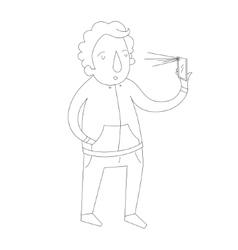 Selfie man photo vector